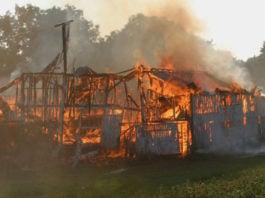 government burns land